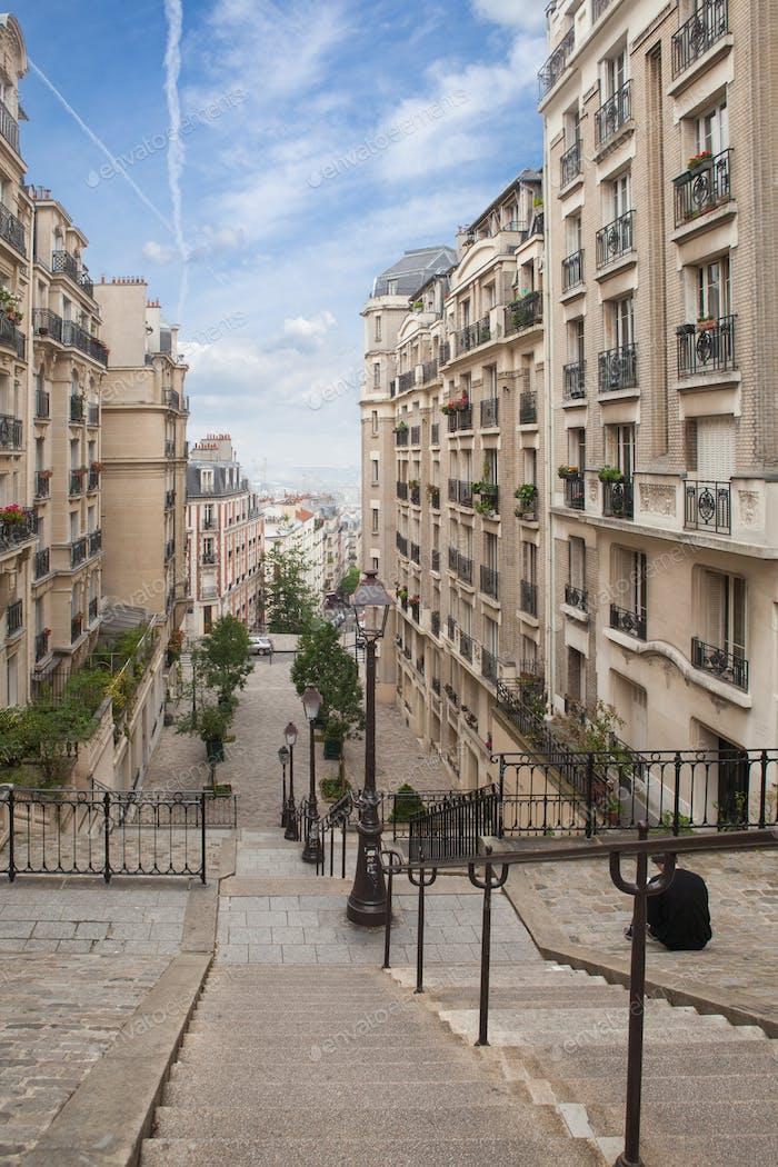 Escaleras en Montmartre