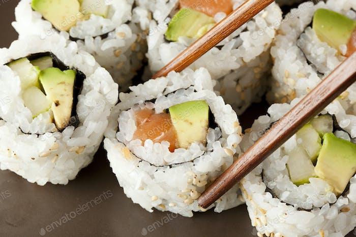 Fresh Homemade Sushi Roll