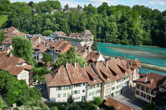 Panoramic view of Berne, Switzerland