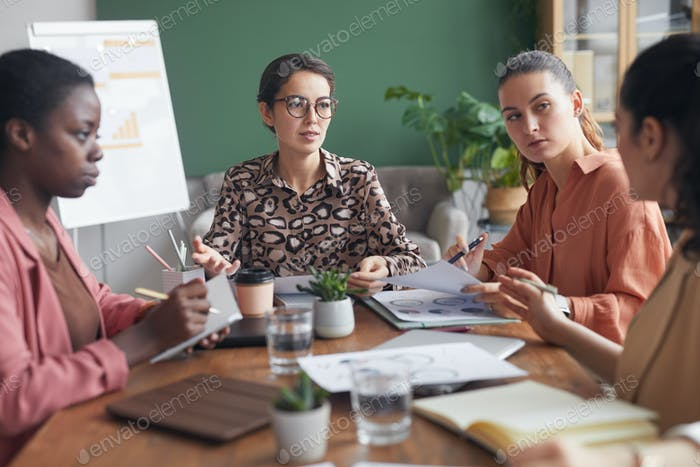 Female Professionals in Meeting