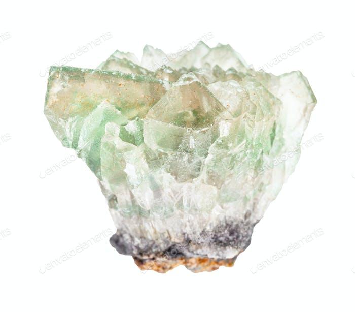 roher grüner Fluorit (Fluorspat) gestein isoliert