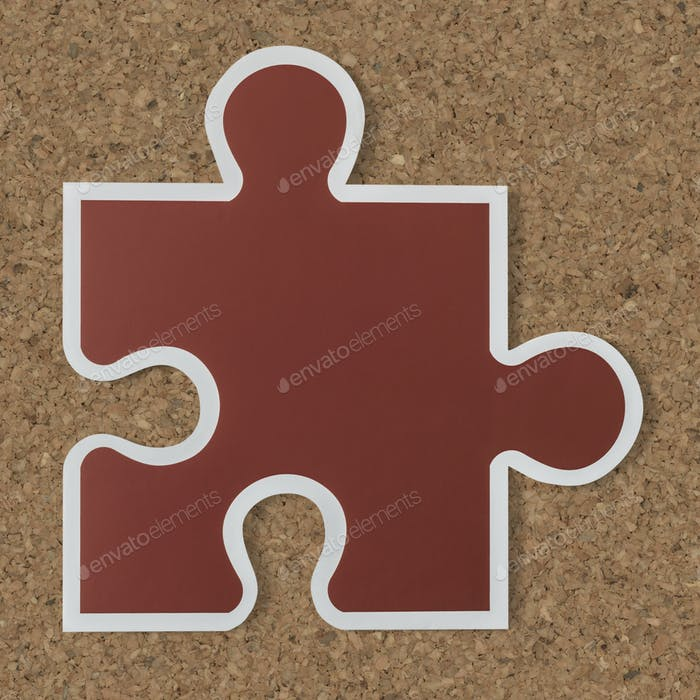 Jigsaw puzzle piece strategy icon