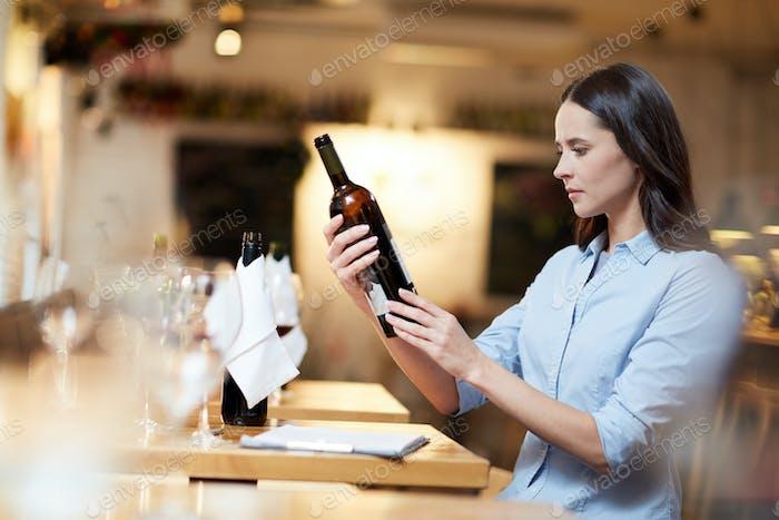 Examining the wine