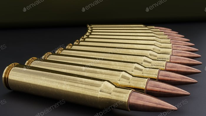 556mm Ammunition Background