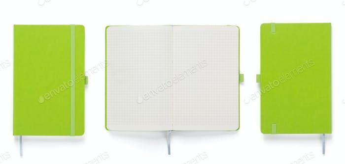 Notizbuch oder Notizblock weiß isoliert