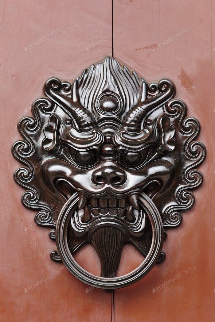 chinese style lion door lock