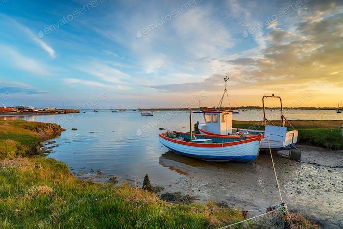 Fishing boats at Slaughden Quay
