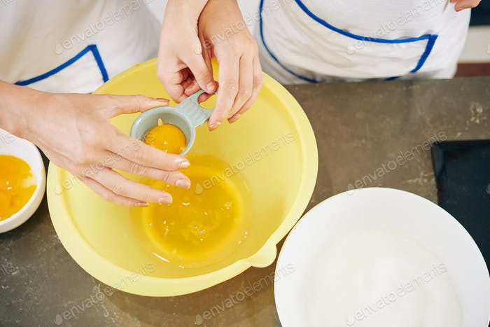 Separating yolks from whites