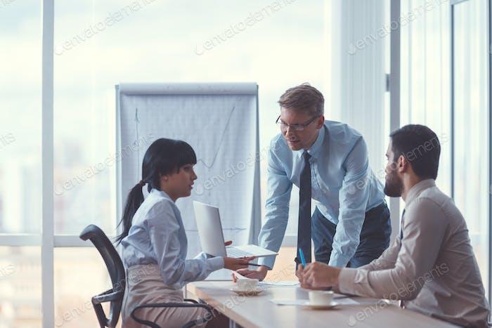 Teamwork at the meeting