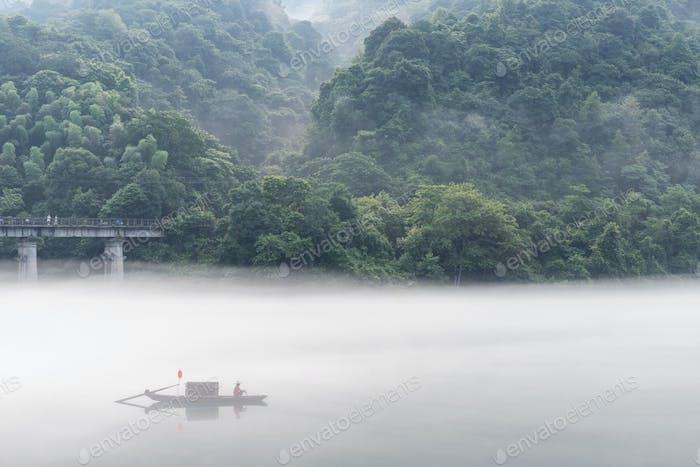 beautiful Dongjiang Lake scenery