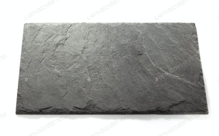 black slate signboard isolated on white