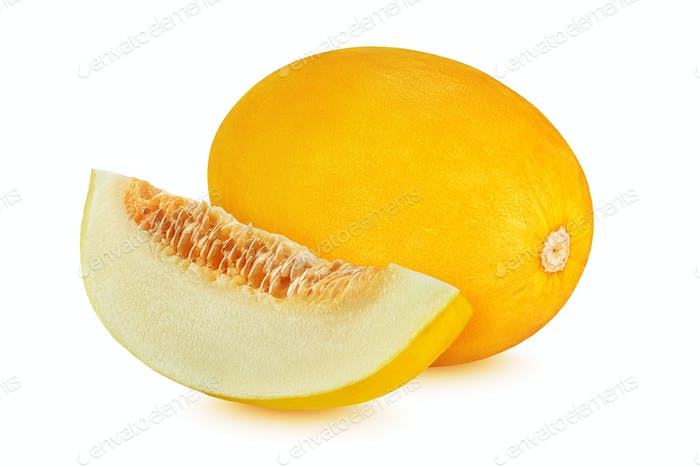 Canary melon isolated on white background