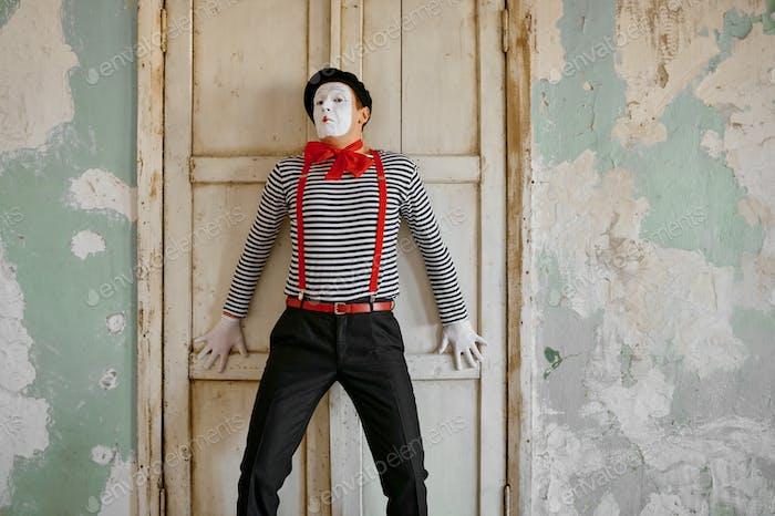 Male clown, mime artist, parody comedy