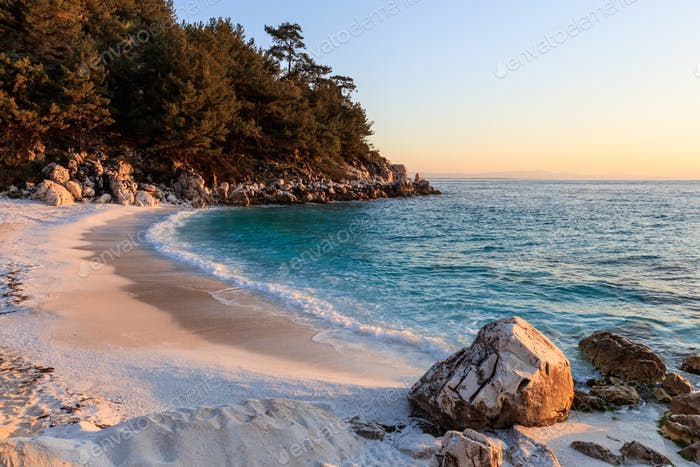 Marble beach. Thassos Islands, Greece