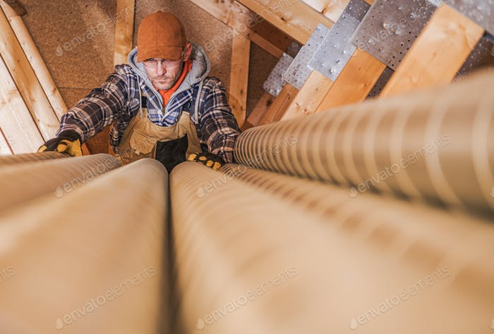 Residential Air Ventilation Pipelines Preparation