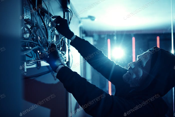 Man repairing the electricity system
