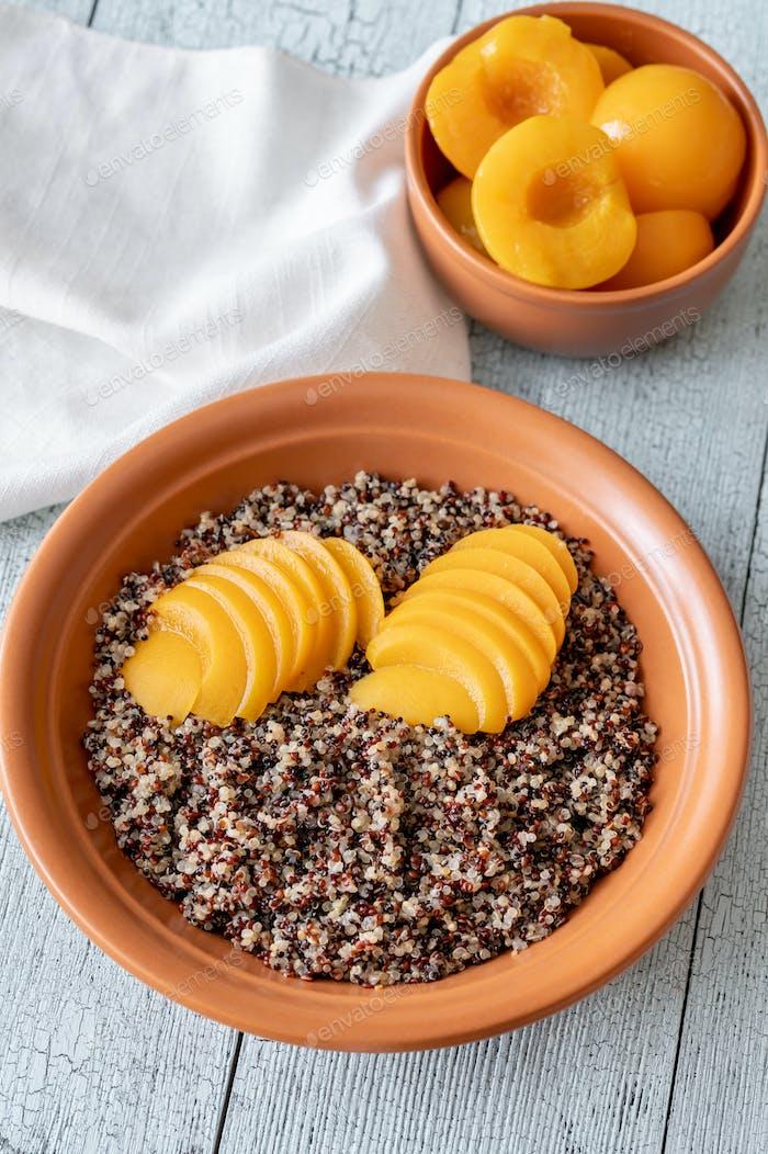 Quinoa with peach