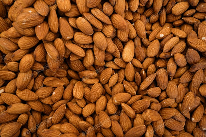 Organic almonds background