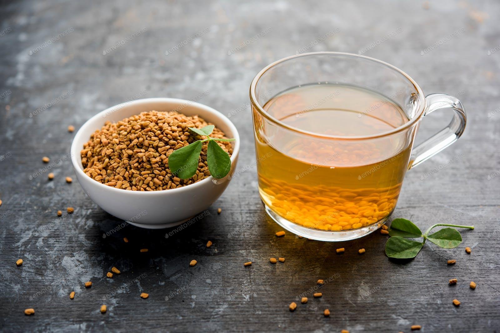 Fenugreek Seeds Or Methi Dana Drink photo by stockimagefactory on Envato Elements