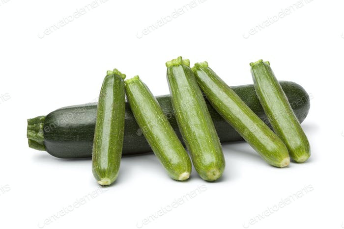 Courgette and mini courgettes
