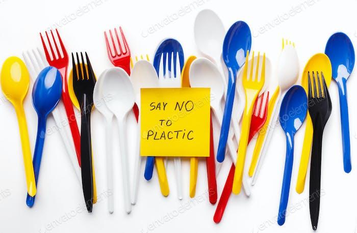 Say no plastic concept