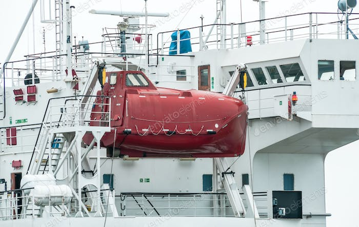 Enclosed Lifeboat for ship.