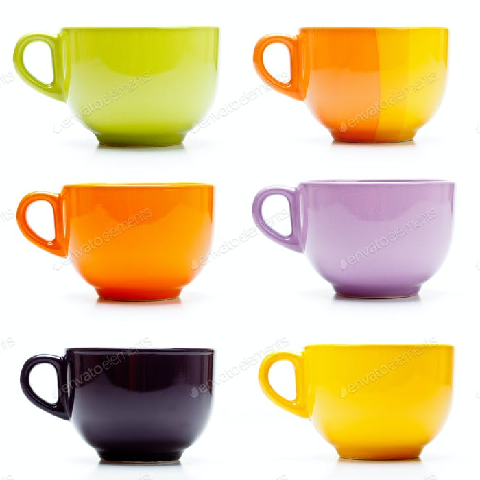 Colored cups set