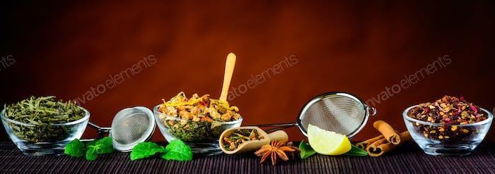 Tea Ingredients and Utensils