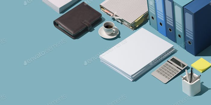 Professional business and finance desktop