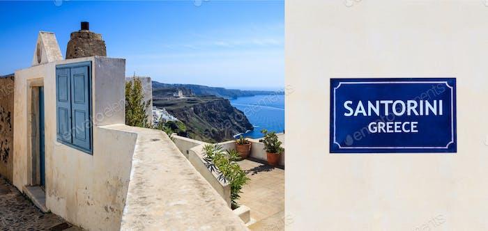 Isla de Santorini, Grecia - Vista de la caldera