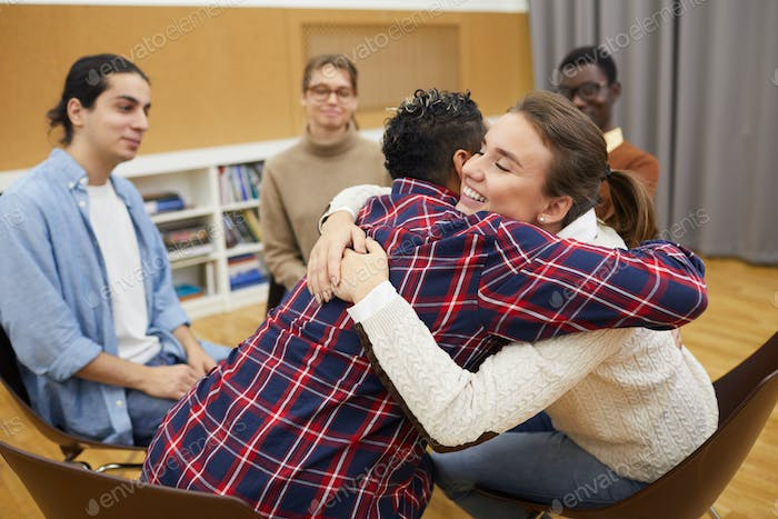 Hugging in Support Group