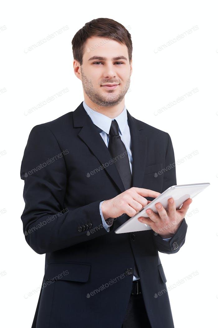Digital age businessman.