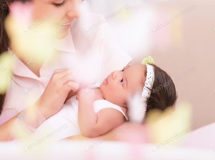 Happy motherhood concept