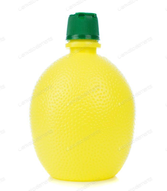 Plastic Bottle of Lemon Concentrated Juice