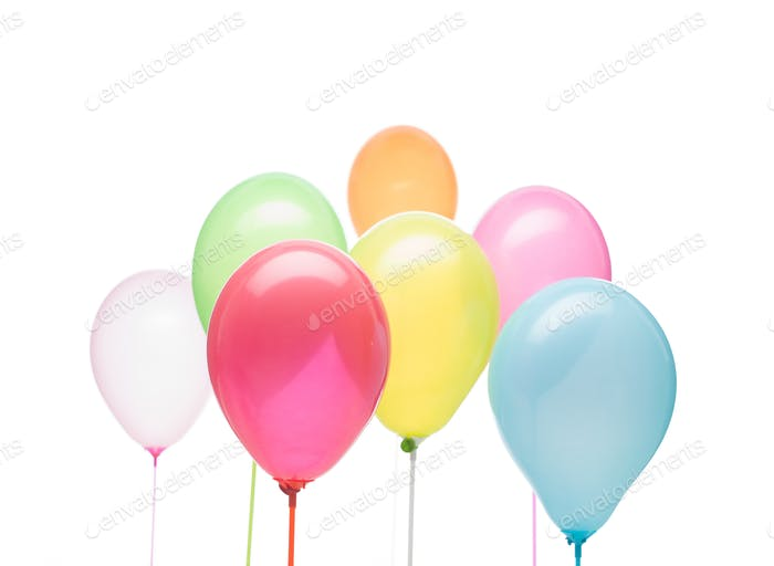 party postcard balloons