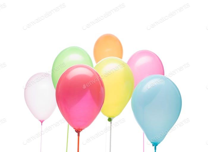 party postcard balloons