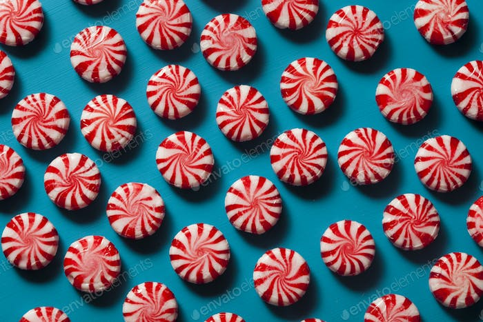 Sweet Red and White Peppermint Candy