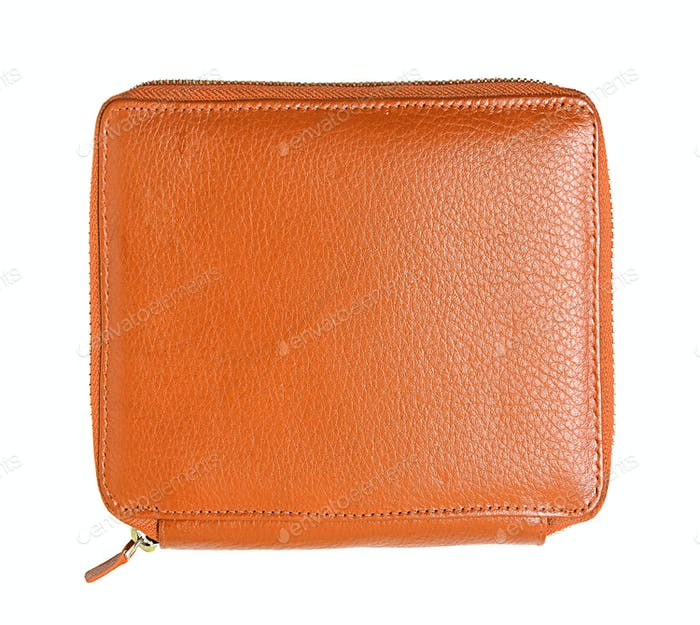 orange pencil case isolated