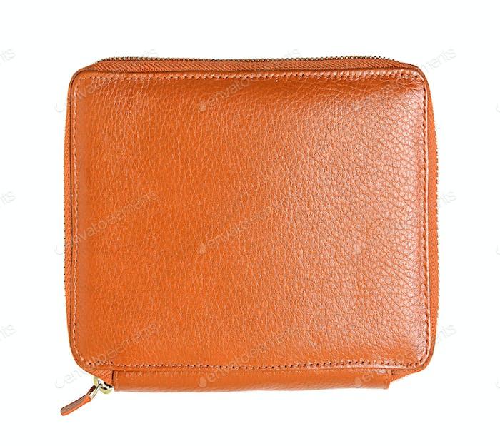 orange pencil case isolated