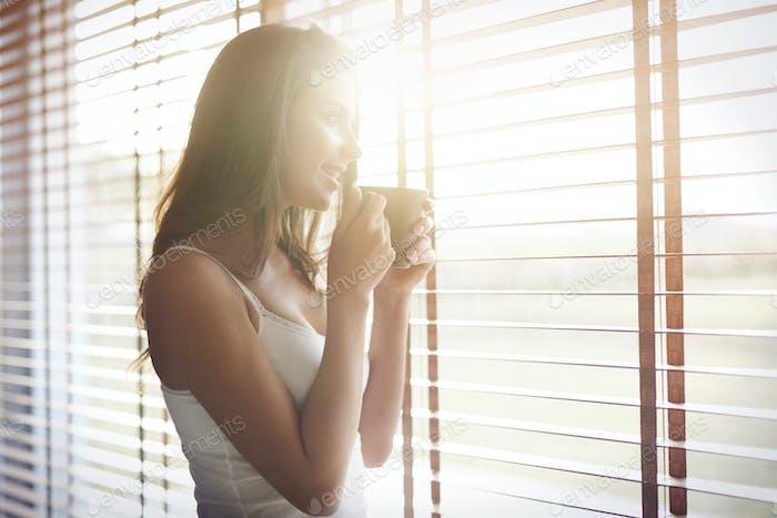 Morgensonne und guter Kaffee macht mich immer gut gelaunt