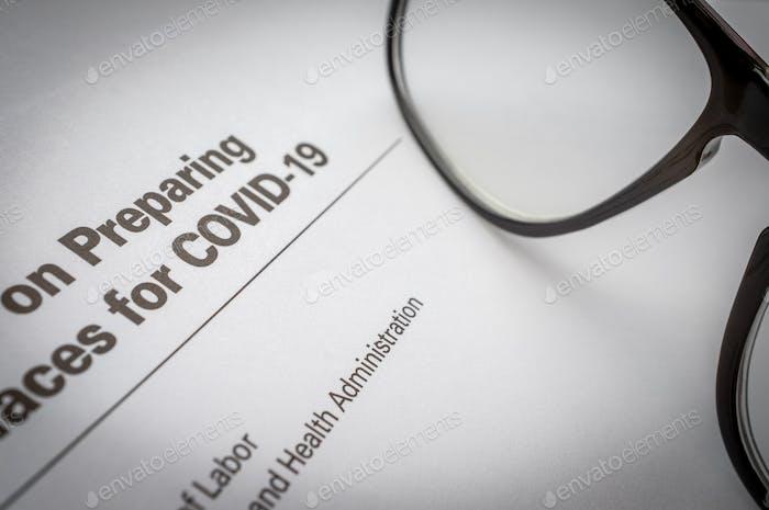 Directrices del Gobierno para el brote de coronavirus