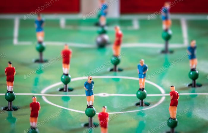 Player figurines of tabletop football game