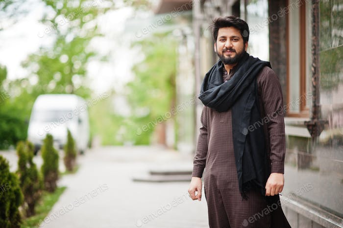 Afghanistan man wear traditional clothes.