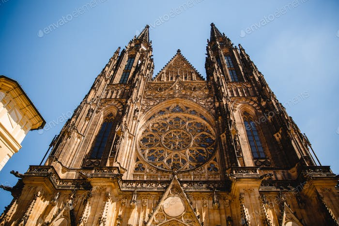 St. Vitus Cathedral in Prague Castle in Prague, Czech Republic