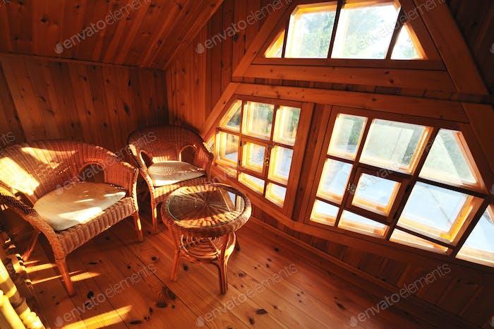 Innenausstattung aus Holz