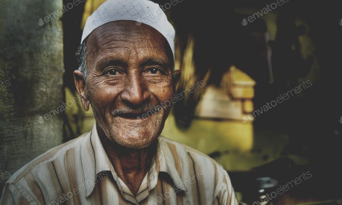 Happy Indian Man Smiling For The Camera Concept