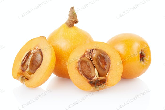Loquat fruit and section