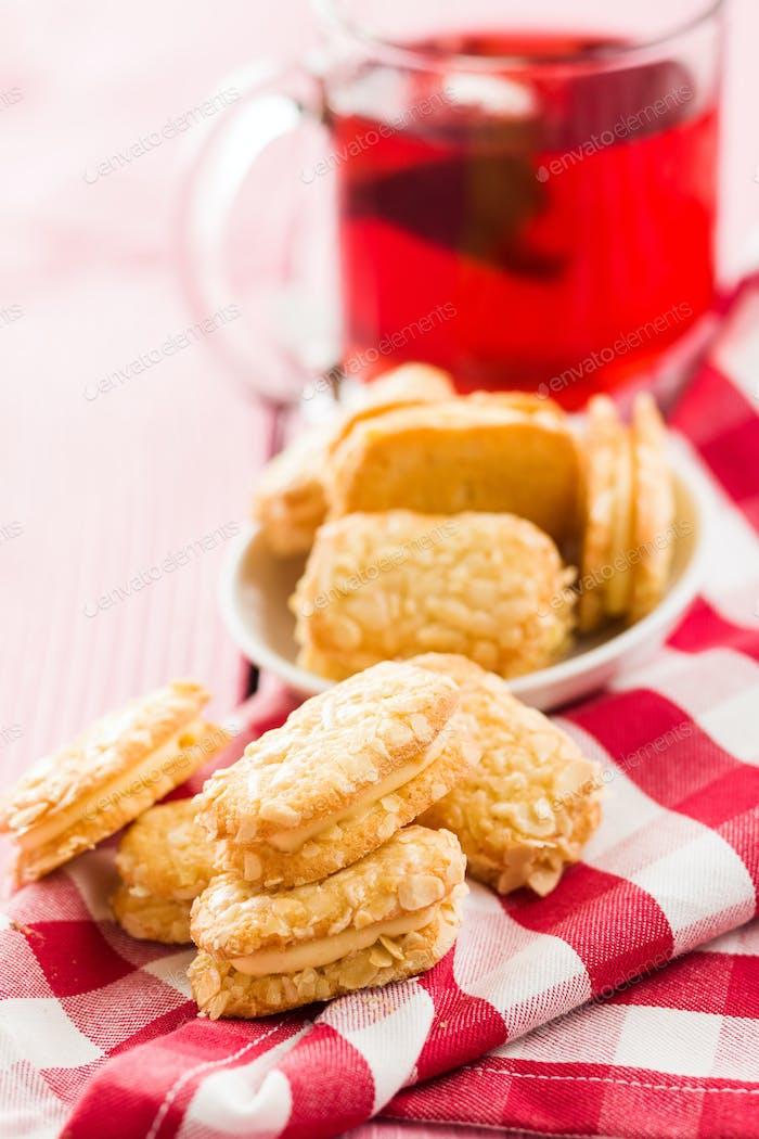 Sweet biscuits dessert.