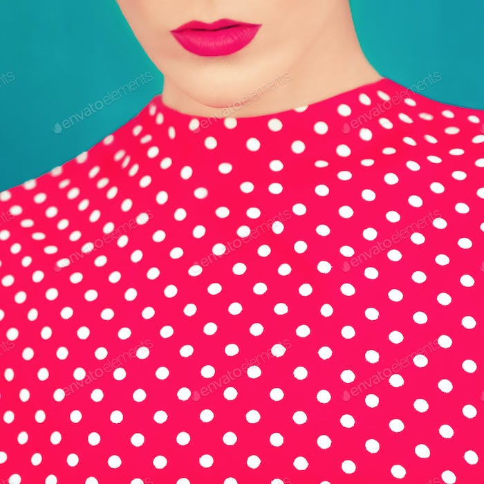 close-up portrait of a stylish retro girl