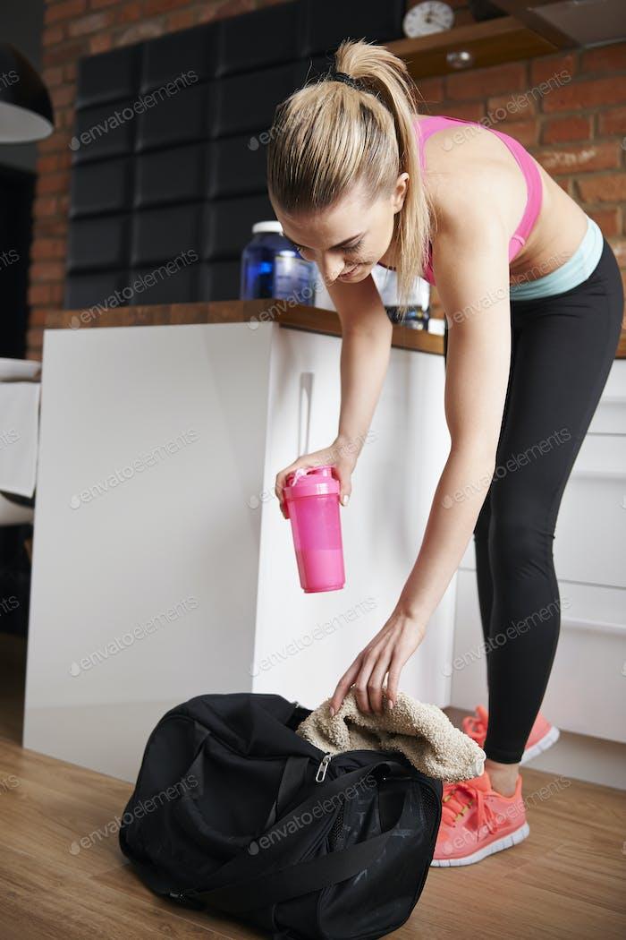 Packsack für das Fitnessstudio